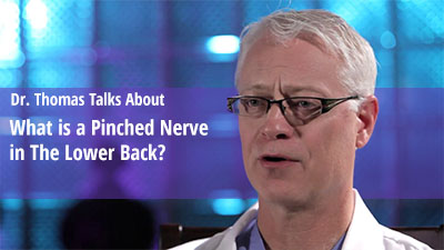 What is a Pinched Nerve in the low back